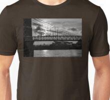 Cincinnati Suspension Bridge Black and White Unisex T-Shirt