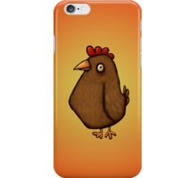 Red Chicken Standing Tall iPhone Case/Skin