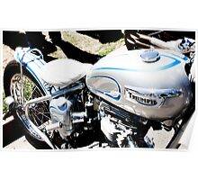 Custom Painted Triumph Motorcycle Poster