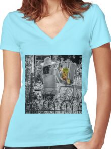 Changing Moods - SC Women's Fitted V-Neck T-Shirt