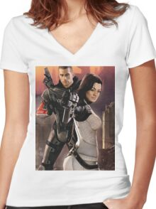 N7 Women's Fitted V-Neck T-Shirt