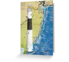Absecon Lighthouse NJ Nautical Chart Cathy Peek Greeting Card