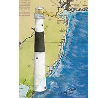 Absecon Lighthouse NJ Nautical Chart Cathy Peek Photographic Print