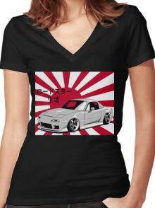 Mazda Miata JDM Women's Fitted V-Neck T-Shirt