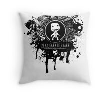 Play, Create, Share Throw Pillow