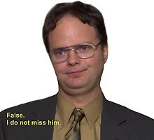 Dwight Schrute - False, I Do Not Miss Him by TellAVision