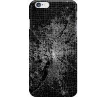 Indianapolis map Indiana iPhone Case/Skin