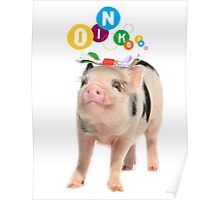 SPOTTY MICRO PIG GIRL Poster