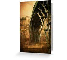 Iron Bridge Telford Greeting Card