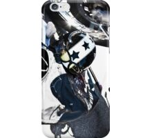 Motorcycle Helmet with Stars and Goggles iPhone Case/Skin
