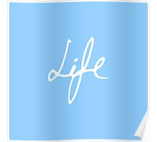 "Elegant Hand Drawn ""Life"" Typography Poster"