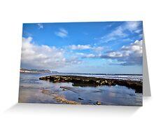 Low Tide ~ Lyme Regis Greeting Card