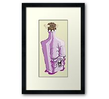 Purple Bottle Framed Print