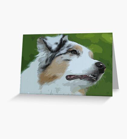 Australian shepherd pretty dog breed Greeting Card