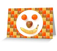 Fruit Face Greeting Card