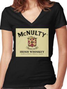 McNulty Irish Whiskey Women's Fitted V-Neck T-Shirt