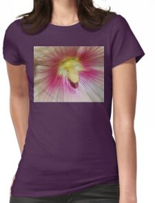 Hollyhock close up Womens Fitted T-Shirt