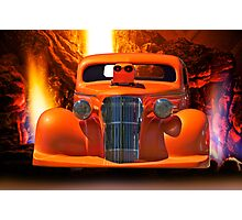 Satanic Invasion - 1936 Chevy Pro Mod Photographic Print