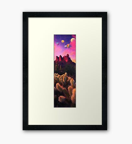 Balloon over desert Framed Print