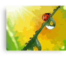 Beautiful ladybug Canvas Print