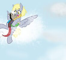 Flying With Mommy--Discord and Derpy by AugustRaeRae93