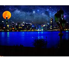 chicago at full moon Photographic Print