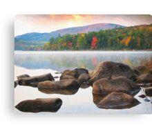 Eagle lake in acadia national park Canvas Print