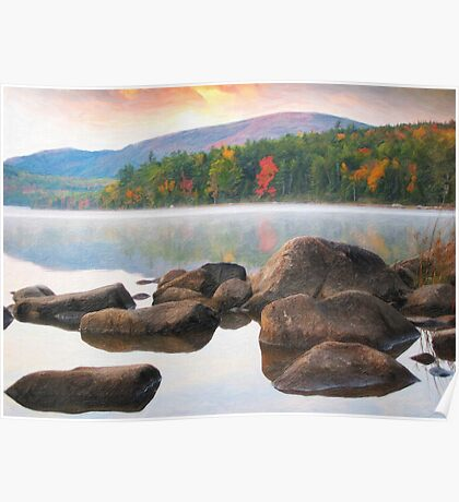 Eagle lake in acadia national park Poster