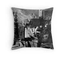 The Old Train with Penguin Guards 21/12/12. Throw Pillow