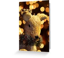 Buck with Snow Greeting Card
