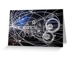 Particle trails Greeting Card