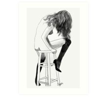 high chair Art Print