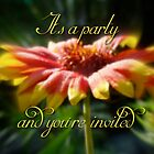 General Party Invitation - Blanket Flower Wildflower by MotherNature2