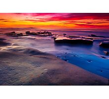 Sunset in La Jolla California Photographic Print