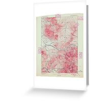 USGS TOPO Map New Hampshire NH Mt Washington 330250 1896 62500 Greeting Card
