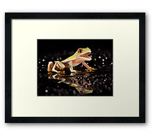 Laughing frog Framed Print
