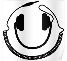 DJ Headphones Smile Poster