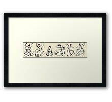 Mevlevi Sufi Whirling Dervishes Dancing Framed Print