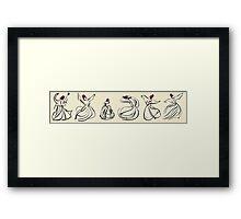 Mevlevi Sufi Whirling Dervishes Dancing Framed Print