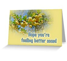Feel Better Soon Greeting Card - Barberry Blossoms Greeting Card