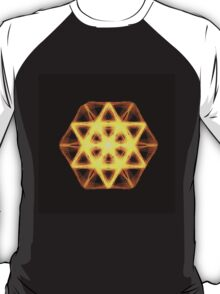 LIGHT BEAM STAR OF DAVID SACRED GEOMETRY orange T-Shirt