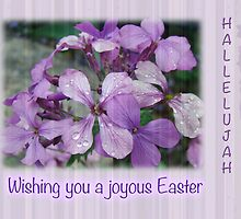 Happy Easter Greeting Card - Luneria Flowers by MotherNature2