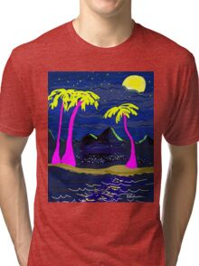Moonlit Island Tri-blend T-Shirt