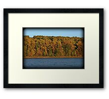 Golden Hour October Shoreline Framed Print