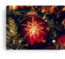 A Christmas Bauble Canvas Print