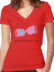 You're just as sane as I am Women's Fitted V-Neck T-Shirt