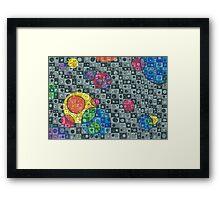 Color Bubbles Framed Print