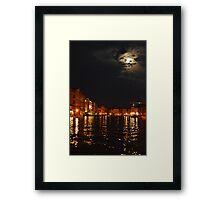 Venice By Night 001 Framed Print
