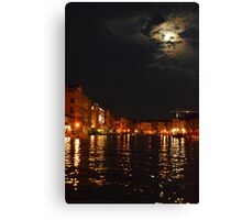 Venice By Night 001 Canvas Print