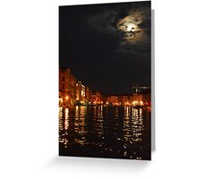 Venice By Night 001 Greeting Card